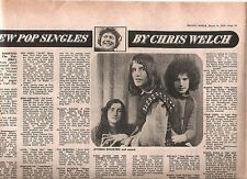 ATOMIC ROOSTER with Carl Palmer (ELP) single review 1970 UK ARTICLE / clipping