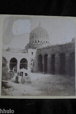 STA381 Egypte La Caire Tombeau d'el Barkouk albumen STEREO Photo stereoview 1900