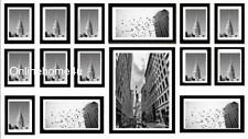 15pcs Multi Foto Marco Portaretrato De Pared Colgar Collage conjunto En Color Negro
