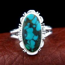 Sterling Silver Ladies Turquoise Ring   Native American Made  Size 9 --- R59 C