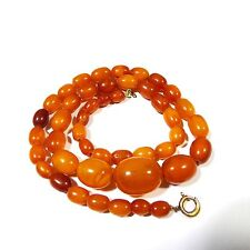 Art Deco Amber Butterscotch Bernsteinkette Necklace Egg Ambre Collier antique