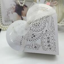 20pcs Romantic Mini Heart DIY Candy Cookie Box for Wedding With Carved Pattern