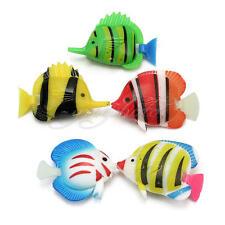 5Pcs Plastic Artificial Fake Fish Vivid Aquarium Tank Pond Ornaments Decoration