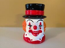 Vintage Rubens Originals Ceramic Clown Head Planter Vase Retro Circus 60s Mug