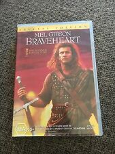 BRAVEHEART DVD. MEL GIBSON, SPECIAL EDITION. 2 DISCS.