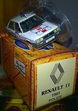 NOREV HACHETTE RENAULT 11 POLICE 1983 NEUF SS COQUE +Boite NOREV