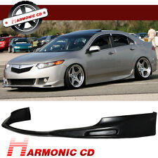 New Fit For 09-10 Acura TSX Sedan 4DR PU Front Bumper Lip Bodykit JDM Style