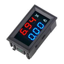 DC100V 10A Voltmeter Ammeter Blue + Red LED Amp Dual Digital Volt Meter Gauge F7