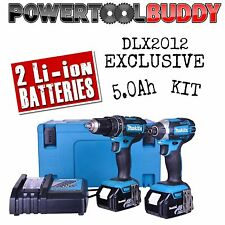 Makita DLX2012 18V Cordless Combi & Impact Set **EXCLUSIVE** 2 X 5.0Ah Kit
