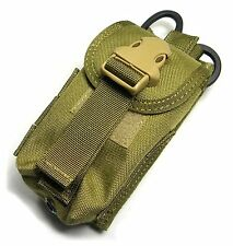 Airsoft CS game TMC Double mag pouch w Medical scissors holder ( khaki ) C0371