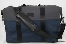 Tumi  New Alpha Soft Duffel Small Travel Satchel Navy/Gray 22149NA2 Retails: 345
