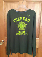 NWT MEN'S FOX RACING LONG SLEEVE THERMAL KNIT SHIRT PULLOVER LARGE L