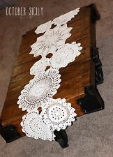 Handmade crochet Table Runner, Doilies Doilie Doily Vintage Knit Decor Rustic