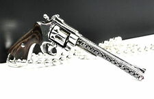 Designer Silver Gun Pendant  With  Black Diamonds by Sacred Angels