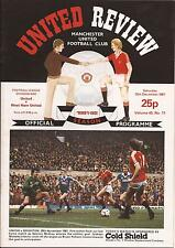 Football Programme - Manchester United v West Ham - Div 1 - 12/12/1981