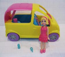 FASHION POLLY POCKET DOLL COOL DRIVE THRU HOT TUB MINI VAN CAR CONVERTIBLE SET