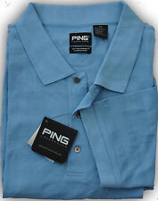 PING Golf Mens Size 4XL Dry Fiber Polo Sport Shirt Andes Blue  XXXXL MSRP $60