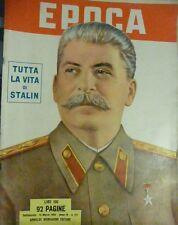 RIVISTA EPOCA '60 RIVISTA CON COPERTINA DEDICATA AD STALIN RUSSIA