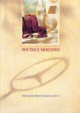 Mercedes boutique folleto NL 1991 1992 accesorios brochure auto folleto auto turismos