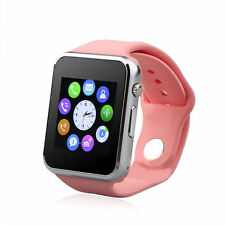 "PINK A1 SMART WATCH GSM PHONE BLUETOOTH ANDROID SAMSUNG IPHONE ""FREE 2GB SD"""