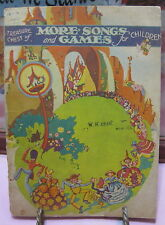 Treasure Chest of More Songs and Games for Children Vintage Songbook 1940