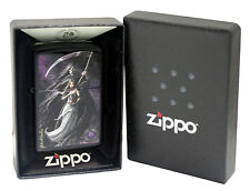 Zippo Lighter 28856 Anne Stokes Woman Holding Hourglass Black Matte New