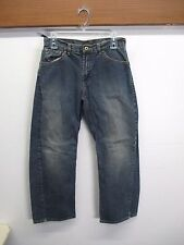 VOLCOM STONE Modern Straight distressed Fit Jeans Pants Skate Blue 29x28 Cotton