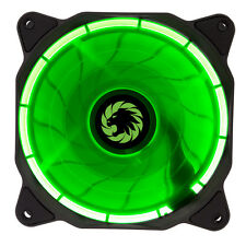 Game Max Eclipse Green Ring LED Hydraulic Bearings 120mm PC Case Cooling Fan