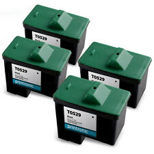 4 PK T0529 Dell Series 1 Black Ink Cartridge Photo All in One A920 720