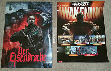 Nouveau call of duty black ops iii éveil double face poster zombies eisendrache