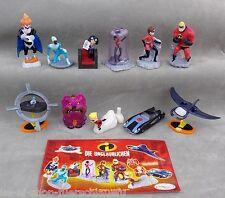 Komplettsatz die Unglaublichen mit allen Zetteln 2005 Ferrero Disney / Pixar