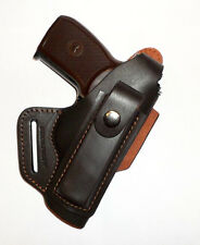 Makarov, Walther PPK waist belt (OWB) gun holster, genuine leather RH    s2818br