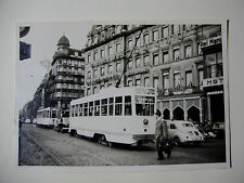 B247 - 1950s TRAMWAYS BRUXELLOIS - TRAM No7071 Route 18 PHOTO Belgium
