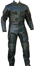 Perrini Brand Leather 2pc Motorcycle Riding Racing Track Drag Suit Size 40 - 52