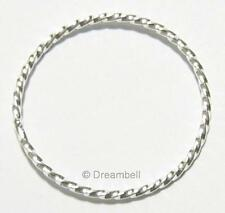 1x Sterling Silver Round Twist Hoop Jump Ring Connector 25mm SE274W