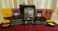 Vintage 1949 Graflex Crown Graphic Camera Kodak Ektar f4.5 152 MM Lens with Case