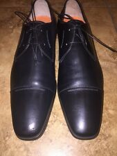 Santoni 'Saxton' Cap Toe Derby SIZE 11 D MENS Black Retail $650