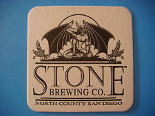 1996 Beer COASTER Mat    STONE Brewing Co, San Diego County ~*~ Spotted Gargoyle