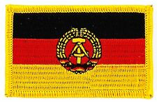 Parche bandera PATCH ALEMANIA REPUBLICA DEMOCRATICA RDT RDA DDR 7x4,5cm bordado
