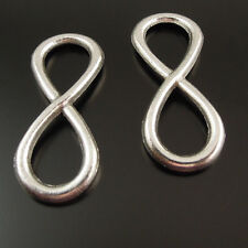 40pcs Vintage Silver Infinity Sign Number Eight 8 Pendant Connector 37548