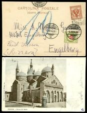 POSTAGE DUE SWITZERLAND on 1904 ITALY EARLY UB PPC