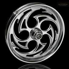 "2015 Street Glide 21"" Inch Custom Chrome ""Predator"" Front Wheel by FTD Customs"