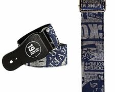 Printed designer Jeans Design pattern Guitar Strap DENIM BLUE 3063 hiphop urban