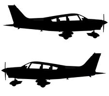 Piper PA-28 Cherokee Warrior - Aviation Silhouette Vinyl Decal