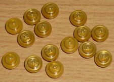 Lego 15 runde Steine 1 x 1 in perl gold
