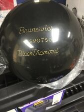 Vintage Brunswick Black Diamond Bowling Ball 16 Lbs Un drilled  Rare!