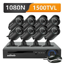 Zclever 8 CH 1080N HDMI DVR 8 Outdoor Home Survienllance Security Camera System
