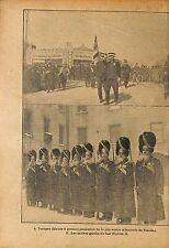 Soldiers China Troops Tientsin Tianjin Chine/ Old Guards  WWI 1917 ILLUSTRATION