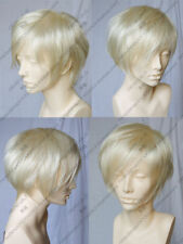 New Short Platinum-Blonde Cosplay Party Hair Wig