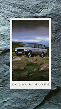 Range Rover Colour & Trim 1990-91 UK Market Multilingual Foldout Brochure